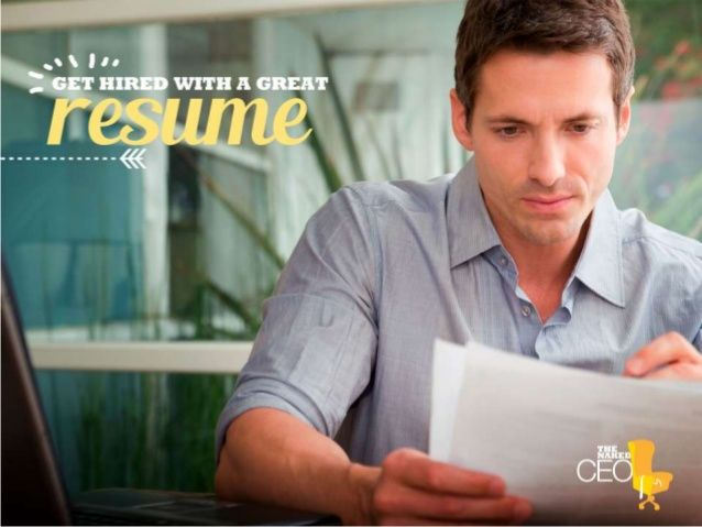 Create a resume that really gets read