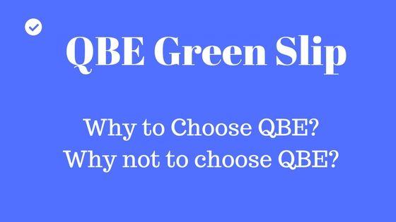 QEB green slip