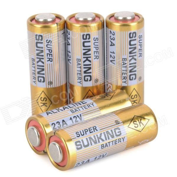 23A 12V Alkaline Battery Pack (5-Piece Pack)