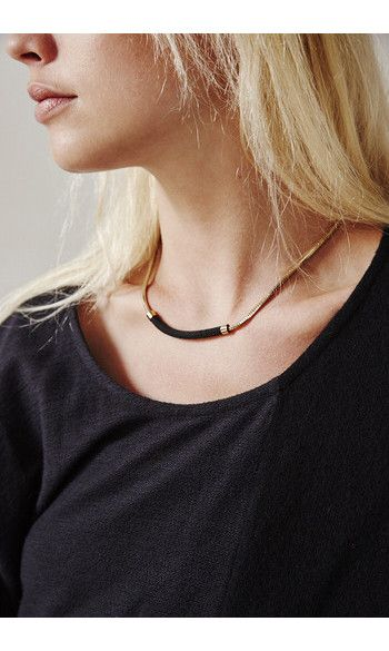 Judith Benita collier Infini noir-----------#judithbenita #necklace #collier #black #gold #noir #doré #jewels #bijoux
