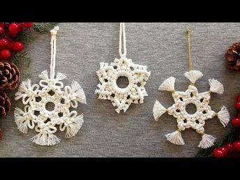 Macrame Bracelet Patterns, Macrame Patterns, Diy Xmas Ornaments, Holiday Crafts, Macrame Wall Hanging Diy, Diy Coasters, Macrame Design, Macrame Projects, Decoration