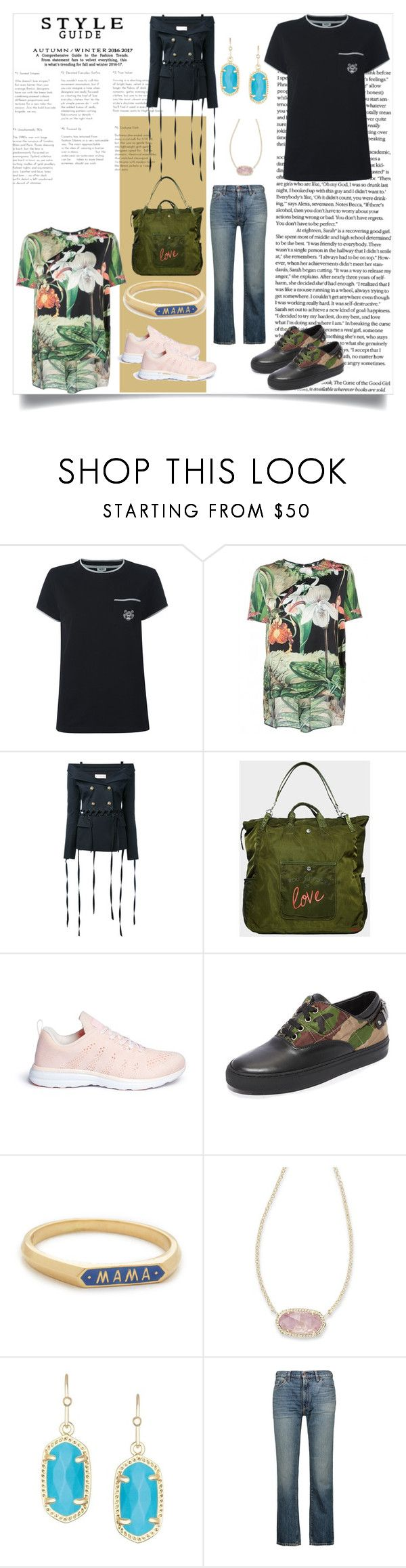 """""""Think Yourself"""" by denisee-denisee ❤ liked on Polyvore featuring Kenzo, ADAM, Faith Connexion, Peace Love World, Athletic Propulsion Labs, Moschino, Nora Kogan, Kendra Scott and Simon Miller"""