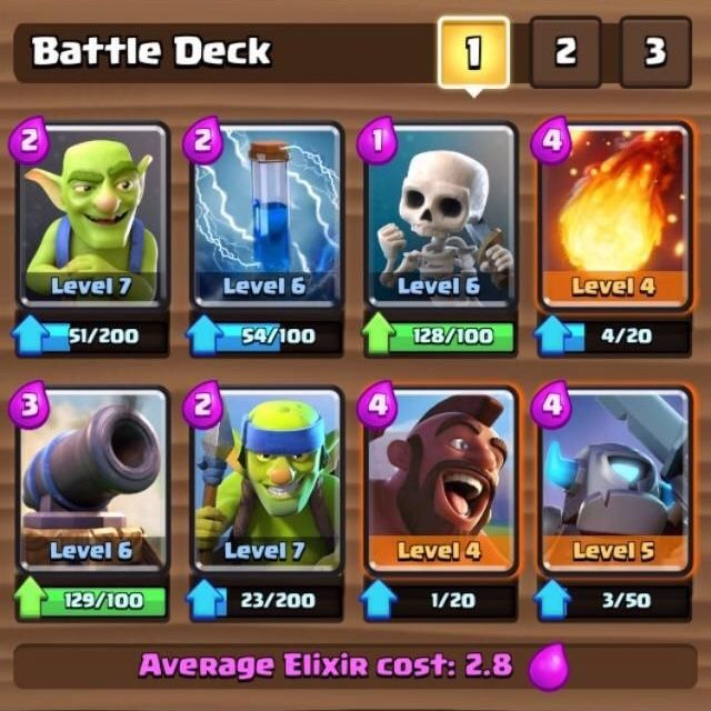 Good Beginner Deck Clash Royale Clash Royale Clash Royale Deck Cool Deck