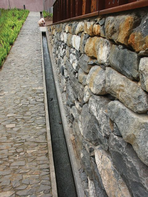 Nice water feature/stormwater drainage channel detail.
