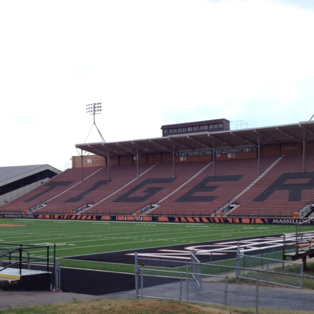Paul Brown Tiger Stadium, home of the Massillon Washington Tigers. Built in 1939. Seats 16,000.