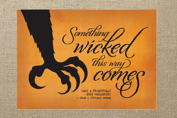 Wicked Scary Halloween Card By Ann Gardner Minted Com