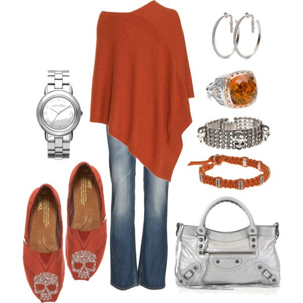 Chic OutfitSkull Details, Gorgeous Colors, Fashion, Style, Clothing, Burnt Orange, Skull Shoes, Outfit, Dreams Closets