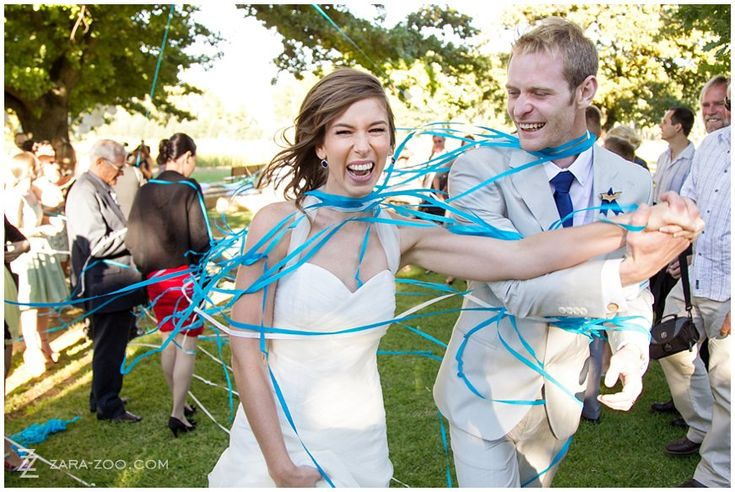 Streamers as #confetti is a good alternative.  Bring your wedding theme colour in by using matching streamers.  A word of caution - is streamers get wet, it will give off color and can potentially stain your wedding dress. See more of this wedding on our blog http://www.zara-zoo.com/blog/wedding-at-kaleo-in-ceres/