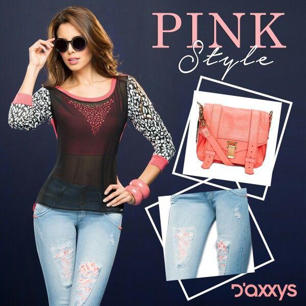 Femenina, casual y llamativa. Así es el #PinkStyle con nuestro Outfit Daxxys Jeans.
