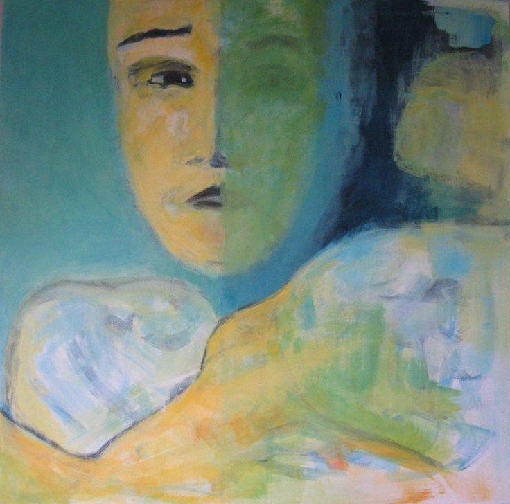 The child II. July, 2011. 70x70. Acrylics on canvas. Privately owned