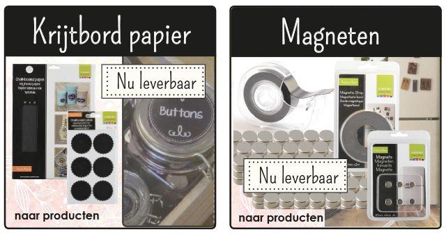 krijtbord papier - magneten