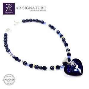 One of AR Signature best pendant, now also ready in necklace for Winter 2015 Innovation from AR Signature.  Made with Genuine Swarovski Crystal, handcrafted with solid Argentium Silver for highest quality result.  Necklace made with Crystal Pearls