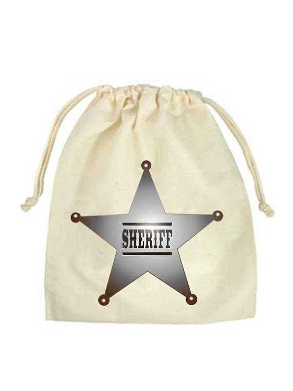 Sheriff Ranger Birthday Birthday Party Party Bags Muslin