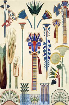 Egyptian Ornament, original illustration from `The Grammar of Ornament`, 1856 (pencil and w/c)