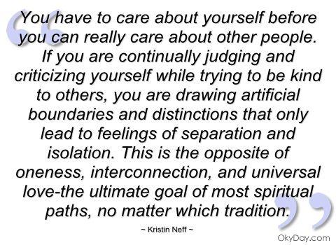 Kristin Neff wisdom: