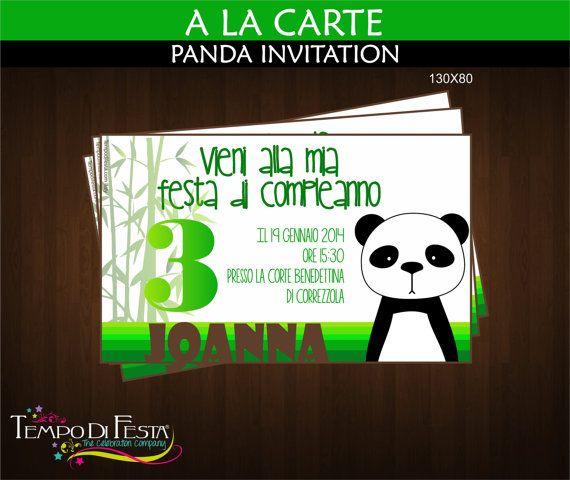 PANDA printable invitation