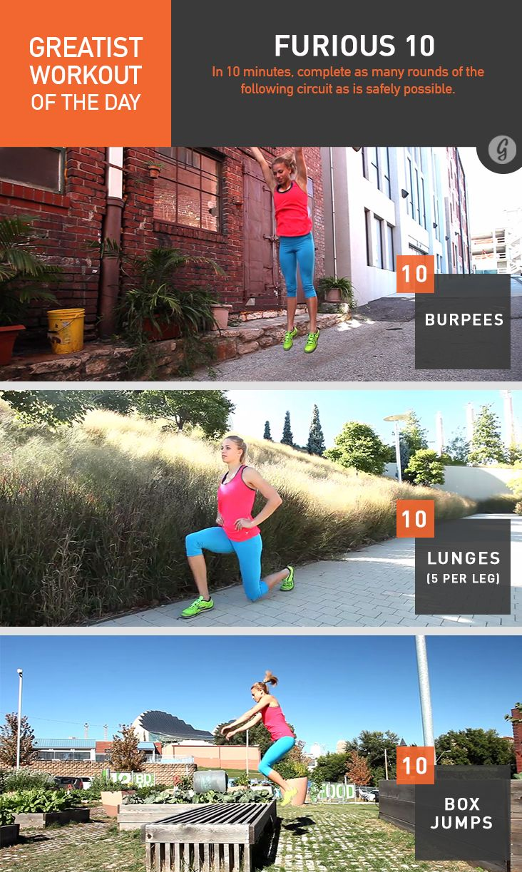 Greatist Workout of the Day: Furious 10 #fitness #bodyweight #workout