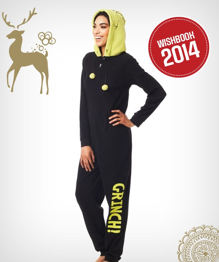 You can be The Grinch this holiday season in this onesie!
