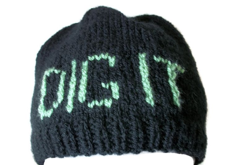Gardeners hat, Allotment beanie - Hand Knitted, £14.99