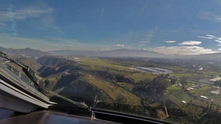 PilotCAM E-190 into Quito's New Airport