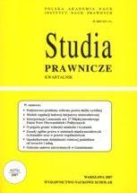 Wydawnictwo Naukowe Scholar :: :: 2007 STUDIA PRAWNICZE nr 1 UWAGA!!! Do kupienia WYŁĄCZNIE w PDFie