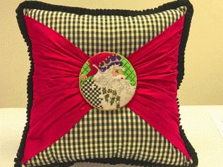 Button Pillow made with Ornament Canvas