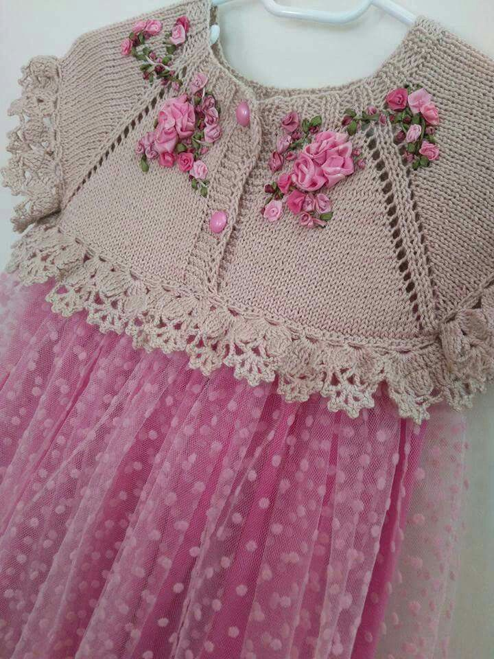 Beautiful knitting with crochet edges! [] #<br/> # #Baby<br/>
