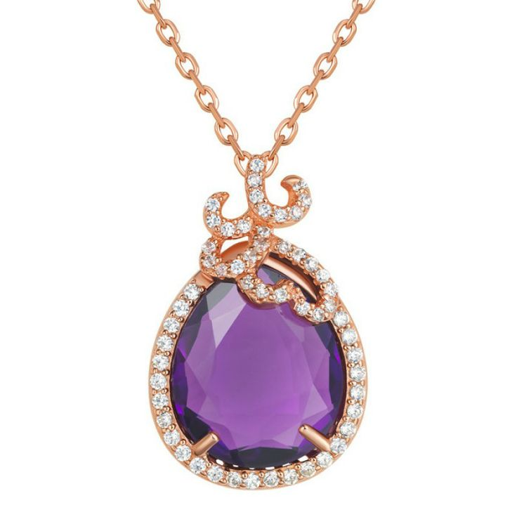 Silver Whispering Pendant - Amethyst - Fei Liu #jewellery #feiliu #necklace #luxury