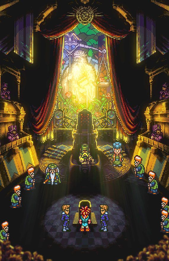 Crono's trial from Chrono Trigger.