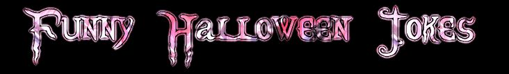 Pink And White Funny Halloween Jokes Banner