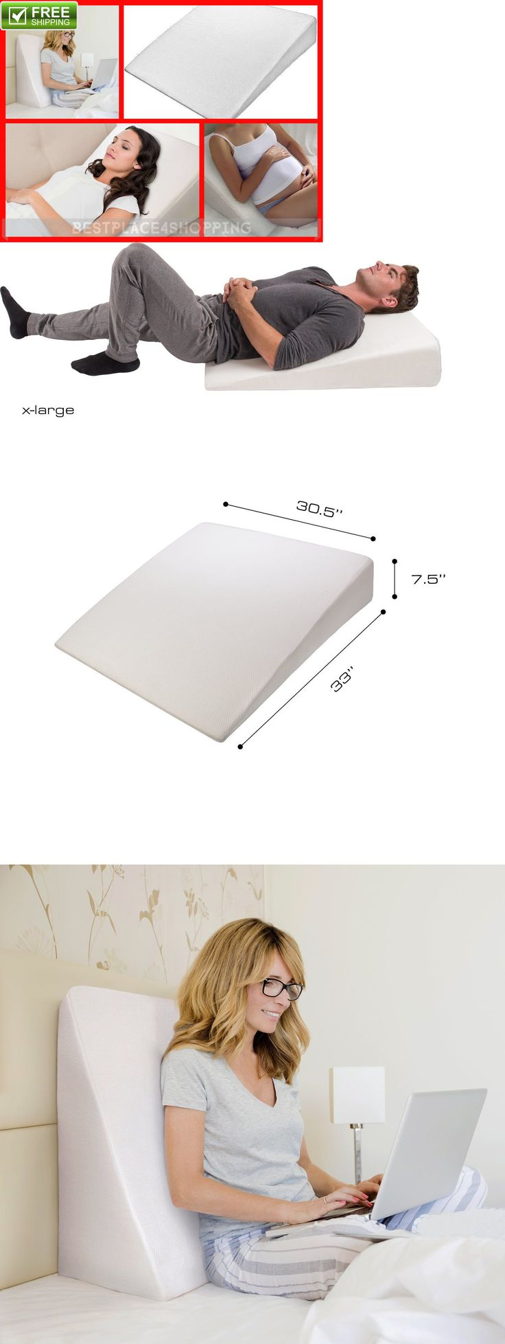 Baby bed for reflux - Wedges And Bed Positioners Luxury Memory Foam Wedge Pillow Support Sleep Pillow Acid Reflux Wedge