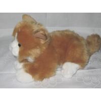 beige-(light brown) - White Cat, Kitty, cat approximately 30 cm, cat, lying, High quality and cuddle-soft, http://www.sammler-und-hobbyshop.eu/beige-light-brown-White-Cat-Kittens
