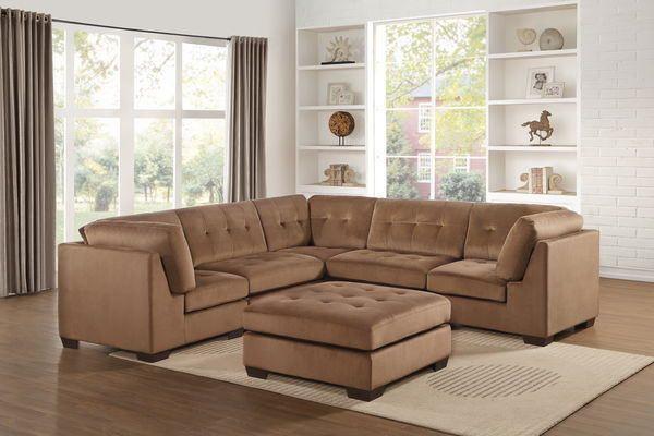 Homelegance 8226db 6pc 6 Pc Savarin Dark Brown Fabric Modular Sectional Sofa Set Corner Sectional Sofa Modular Sectional Sofa Sectional Sofa