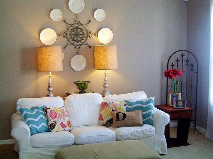 Ideas De Platos En La Pared Recycled Home DecorRecycled HomesDiy Living Room