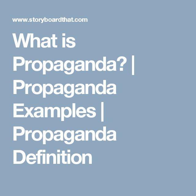 What is Propaganda? | Propaganda Examples | Propaganda Definition