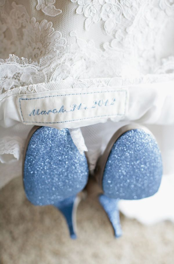 Something old, something new, something borrowed, something BLUE! OMG doing this to my sandals possibly!!