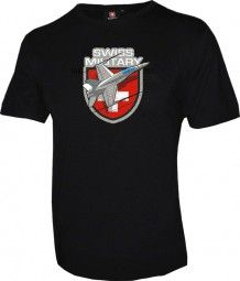 T-Shirt FA-18 Crew, schwarz / T-Shirt FA-18 Crew, black / The T-shirt with the FA-18 fighter plane has a high quality. A man likes to wear a T-shirt.