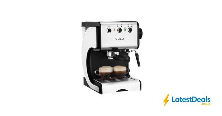 VonShef Premium 15 Bar Stainless Steel Espresso Cappuccino Coffee Maker, £62.99 at ebay