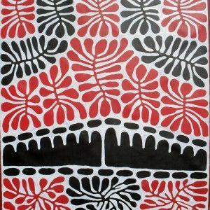 Australian Dreamtime Creations   Watia Tjuta and Irantji Dreaming - Mitjili Napurrula - Acrylic on canvas - 147 cm x 124 cm - 2009