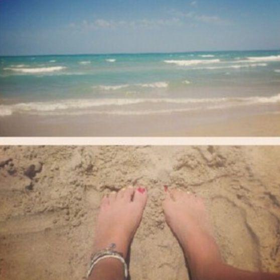 Spain - 2012 - beach - feet - sea