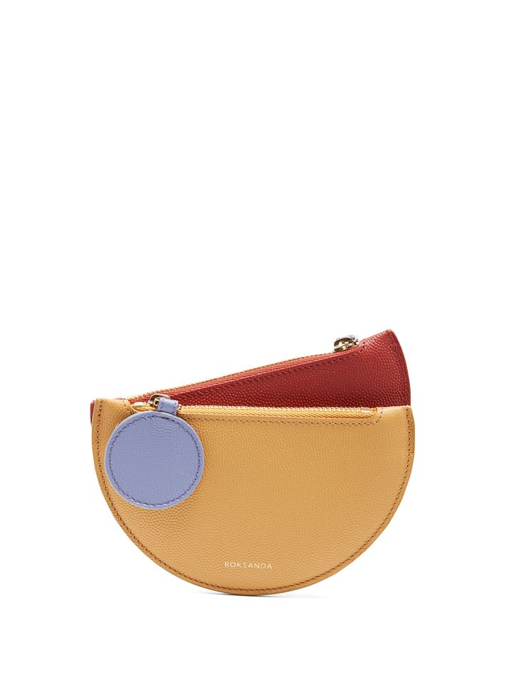Click here to buy Roksanda Demi-lunette bi-colour leather coin purse at MATCHESFASHION.COM