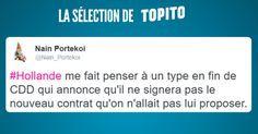 Top 15 des meilleurs tweets sur Hollande qui ne sera pas candidat bye bye François