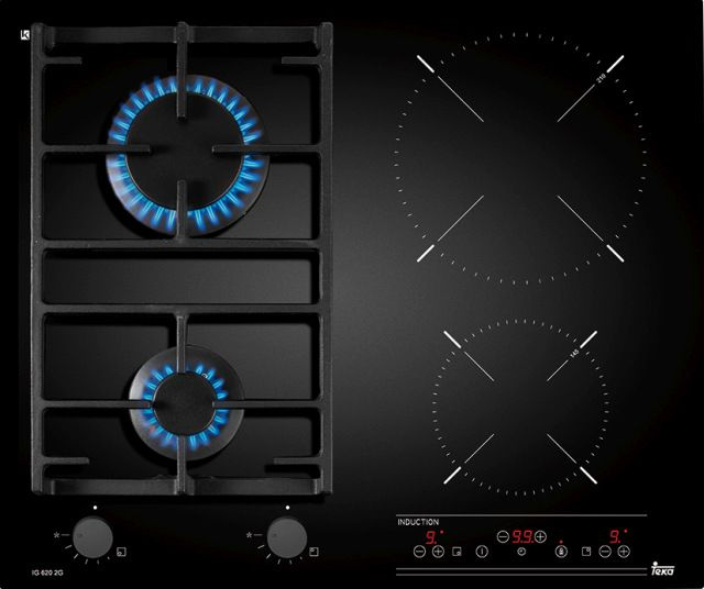 Płyta gazowo-indukcyjna Twin IG 620 2G AI AL, Teka