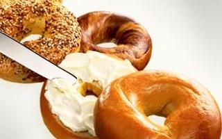 Cream chesse bagel from Donkin' Donuts