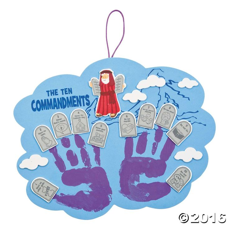 Ten Commandments Handprint Craft Kit is the perfect craft project for Easter. Hang this Ten Commandments craft project in your home to help children learn ...