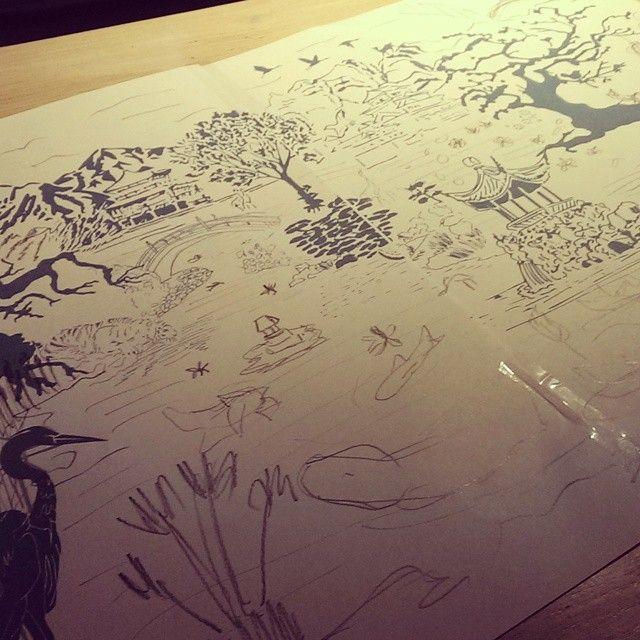 #doodle #design #papercut #dress #pattern Opvullen of het verhaal uitbreiden? #sketch