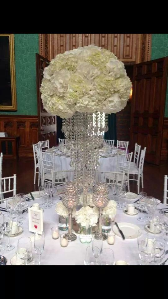 Red Floral Architecture in Knowsley Hall