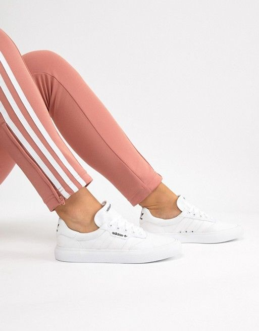 adidas Skateboarding 3MC Vulc sneaker in white | Shoes ...