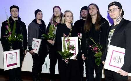 Antti Auvinen's composition  and Harry Salmenniemi's chamber opera Autuus (Bliss) and rapper Paperi T's ablum Malarian pelko (Fear of Malaria) were awarded Teosto Prize on Thursday . Photo – Lehtikuva.