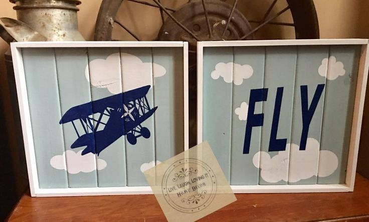 Aviation Fly Nursery set by country compass decor